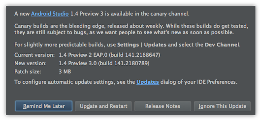Android Studio 1.3.2 and 1.4 Preview 3 Available - Android Tools Project Site
