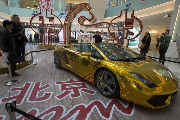 Gold car