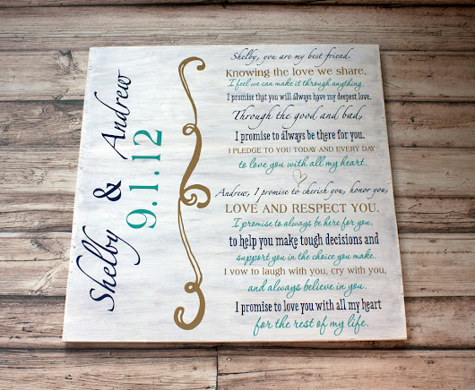Wedding Vows Wall Art - SKO Designs