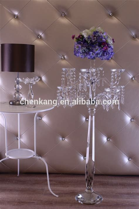 Wholesale Wedding Centerpieces Tall Crystal Candelabra