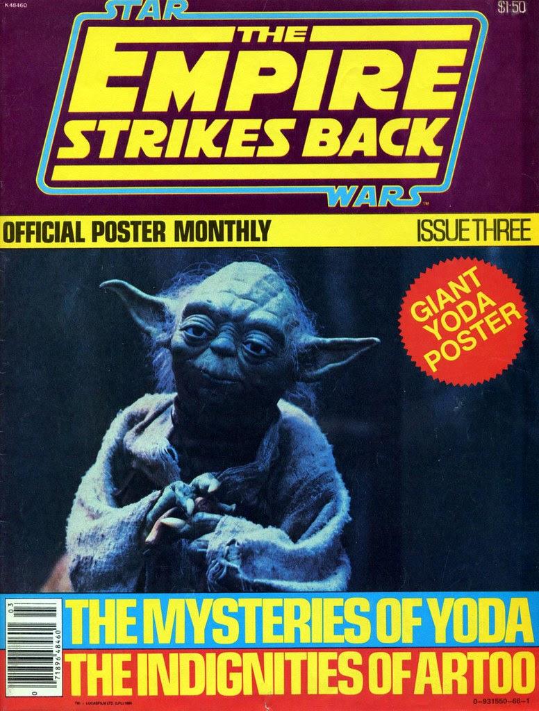 star wars empire strikes back poster magazine issue 3 yoda 1980