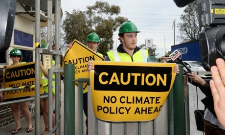 Climate change protesters in Adelaide
