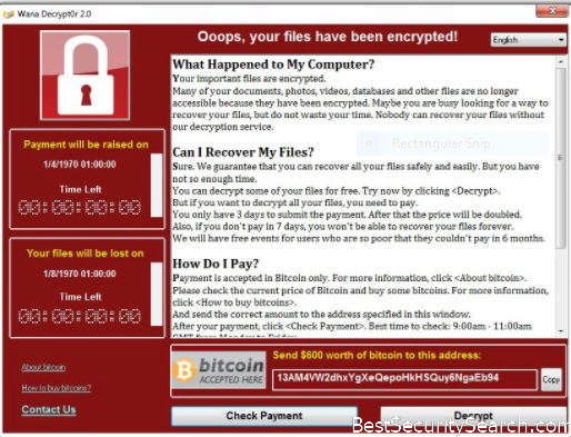 Wanna Decrypt0r 2.0 Ransomware Virus Removal. Restore Files