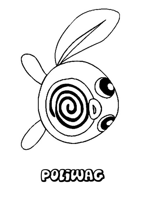 Dibujos Para Colorear Pokemon Poliwag Es Hellokids Com