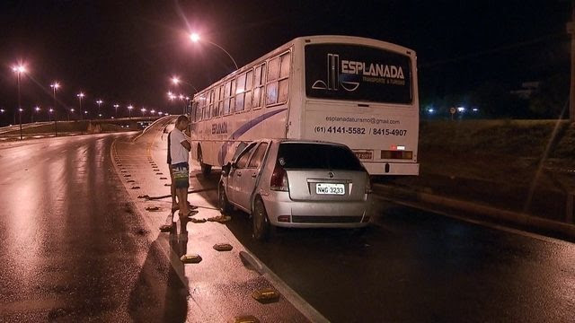 Detentos batem o carro no DF depois de fugir de presídio e são capturados