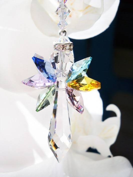 Crystal Suncatcher Rainbow Angel Sun Catcher Hanging Crystals