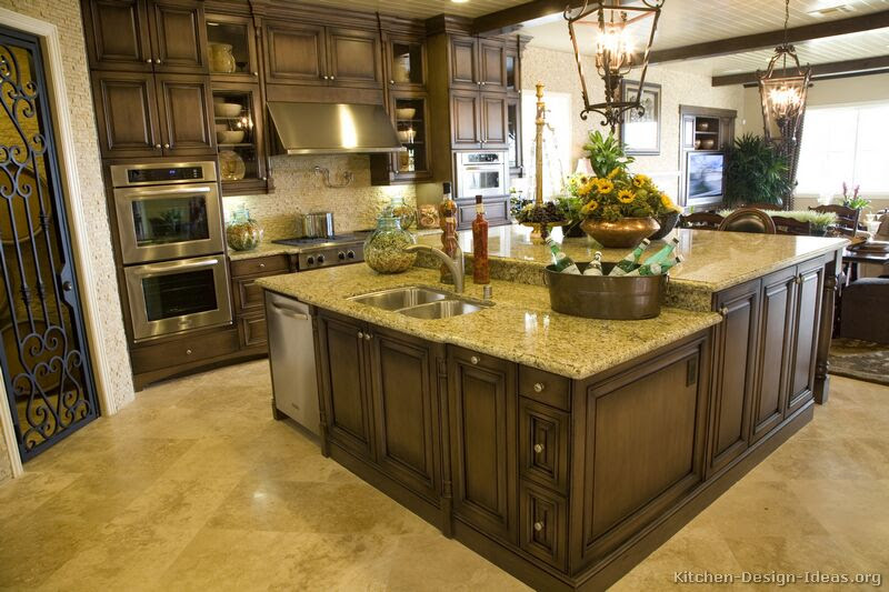 Pictures of Kitchens - Traditional - Dark Wood, Walnut Color ...