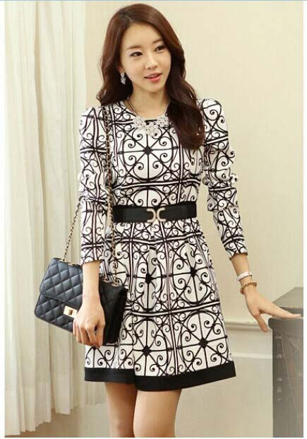 DRESS KOREA MOTIF TERBARU 2015 | Model Terbaru | Jual Murah | Import | Kerja