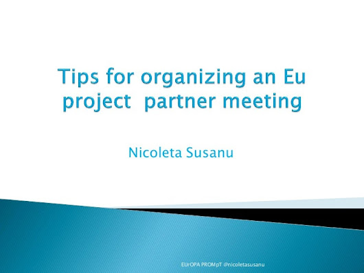 Tips for organizing an Eu project partner meeting