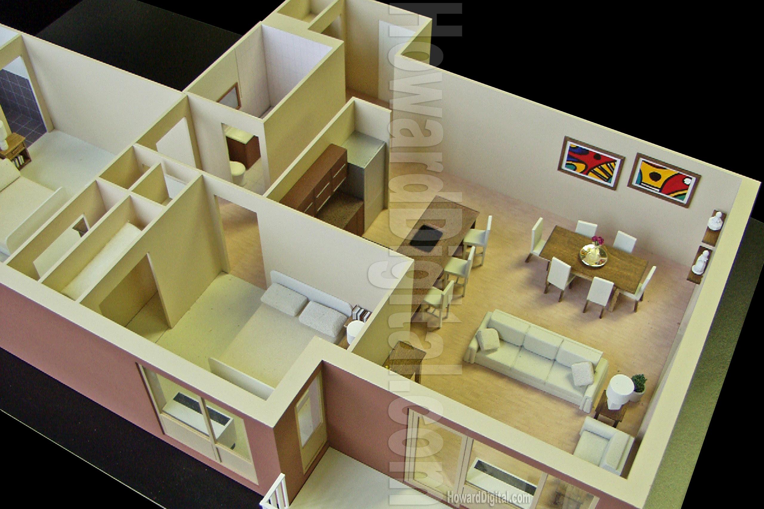 Model House Interior Design Pictures - minimalist home design
