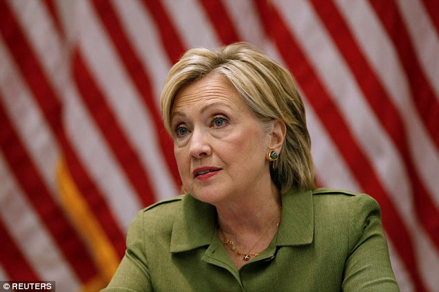 Hillary Clinton called the state's governor and asked her supporters to donate to the Red Cross and the Baton Rouge Area Foundation in a Facebook post.'My heart breaks for Louisiana, and right now, the relief effort can't afford any distractions. The very best way this team can help is to make sure Louisianans have the resources they need,' she said
