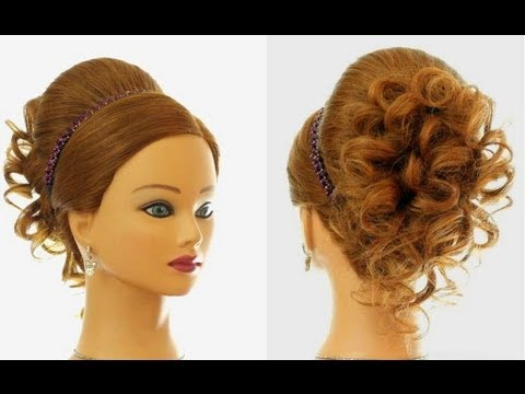 Wedding  prom hairstyle  for long hair  Updo  tutorial YouTube