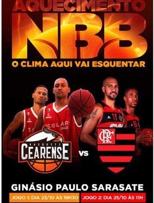 Cartaz Basquete Cearense x Flamengo (Foto: Divulgação)