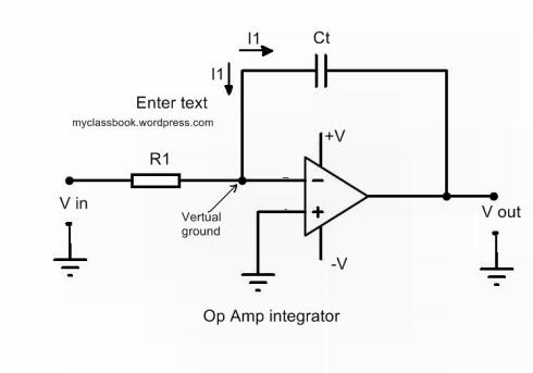 op amp as an integrator