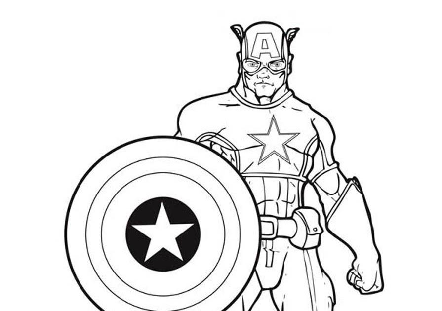 captain america ausmalbilder zum ausdrucken  malvorlagen