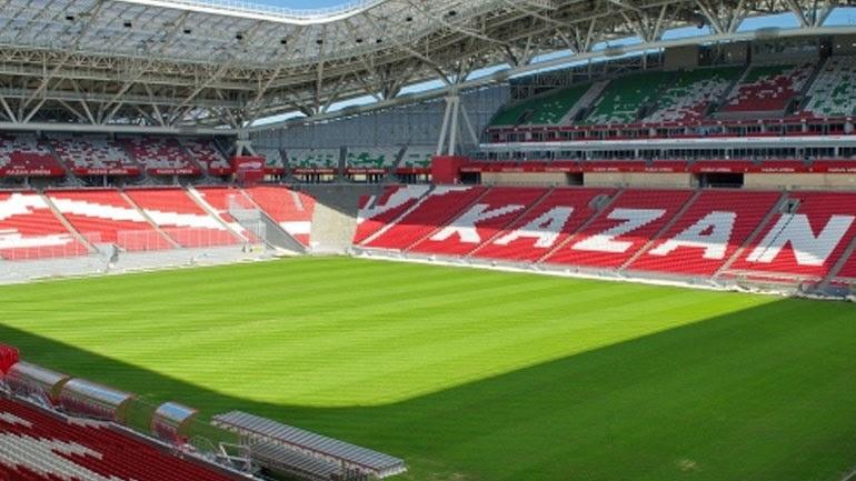 Πρόκειται για το νέο γήπεδο της Ρουμπίν Καζάν που άνοιξε τις πύλες του το 2013. Δύο χρόνια αργότερα φιλοξένησε το Παγκόσμιο πρωτάθλημα υγρού στίβου και γι' αυτόν τον λόγο το χορτάρι του γηπέδου αντικαταστάθηκε από δύο πισίνες. Παράλληλα ήταν ένα από τέσσερα γήπεδα που διεξήχθη το Κύπελλο Συνομοσπονδιών (2017). Εκεί θα διεξαχθούν αγώνες των ομίλων και ματς της φάσης των «8».