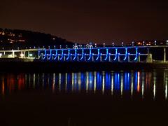 Big Dam Bridge, now with lights!