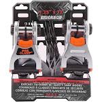 "Erickson 1.25"" x 12' Ratchet with Web Clamp & Safety Hooks"