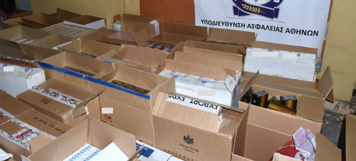Σοκάρουν τα στοιχεία για το λαθρεμπόριο τσιγάρων (Φωτογραφία: EUROKINISSI/ΕΛΛΗΝΙΚΗ ΑΣΤΥΝΟΜΙΑ)