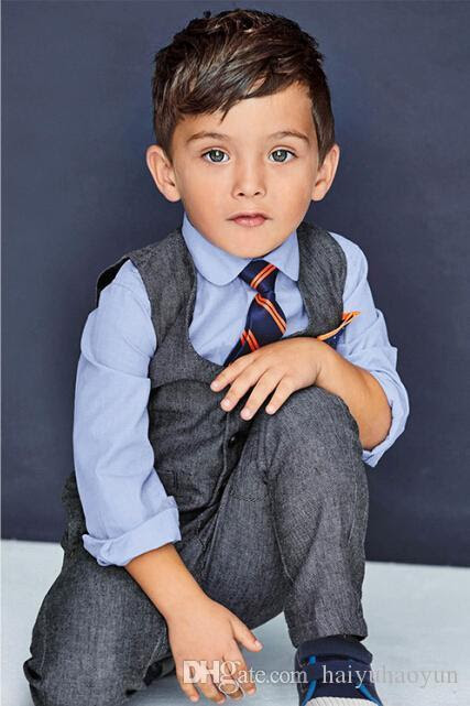 Online Cheap Hot Sale New Fashion Baby Boys Clothes Vest+ Shirt + Tie + Pants Sets ChildrenS