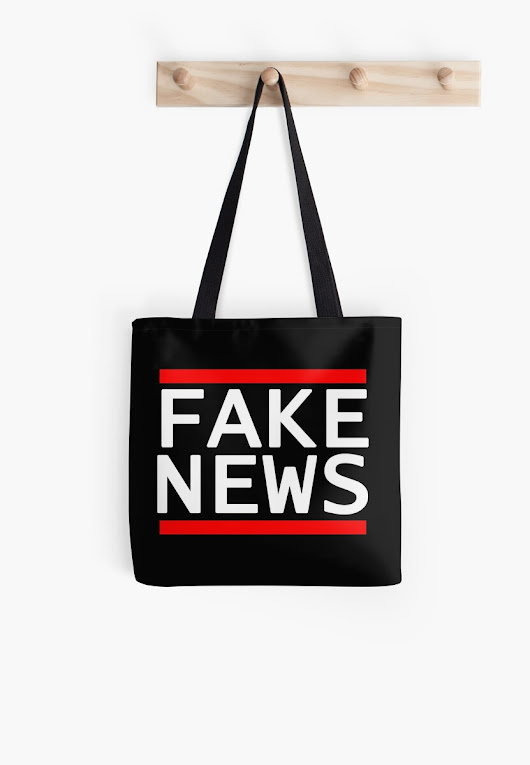 'Fake News' Tote Bag by Travis Love