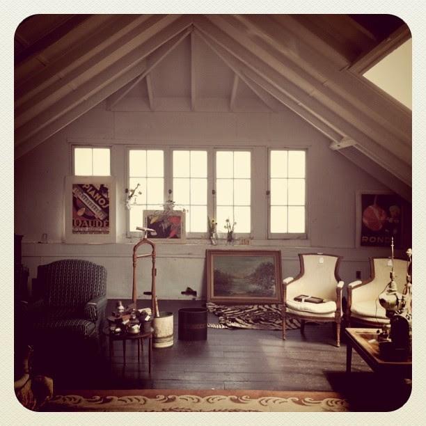 vintage interior at estate sale