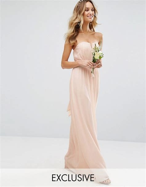 TFNC   TFNC WEDDING Bandeau Maxi Dress