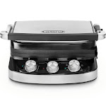 DeLonghi Livenza Stainless Steel 5 in 1 Grill, Silver