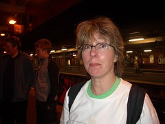 Tami at the end of the Tube Challenge at Upminster
