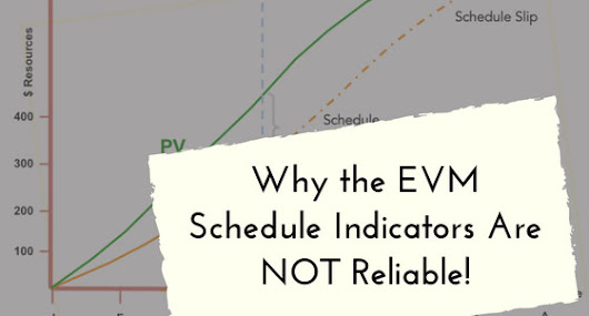 Why the EVM Schedule Indicators Are NOT Reliable!