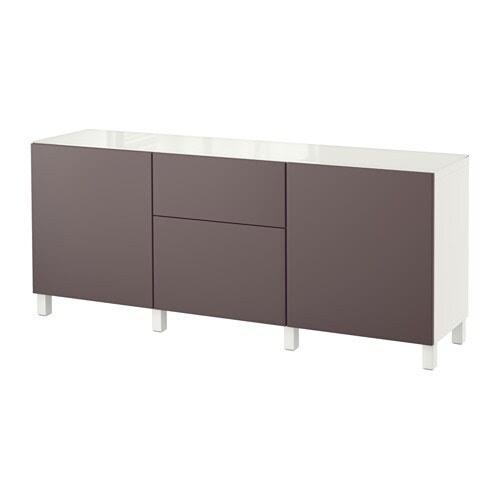 BESTÅ Combinazione + ante/cassetti IKEA Cassetti e ante si chiudono dolcemente e silenziosamente grazie alla chiusura ammortizzata.