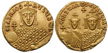 Χρυσός σόλιδος του Βασιλείου Α΄