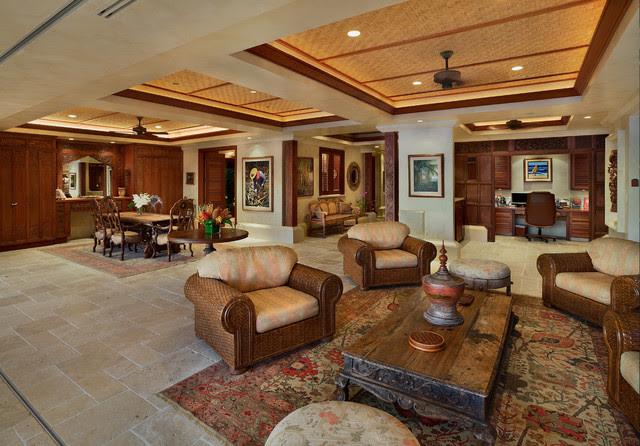 Bali House Tropical Living Room Hawaii By Rick Ryniak Architects