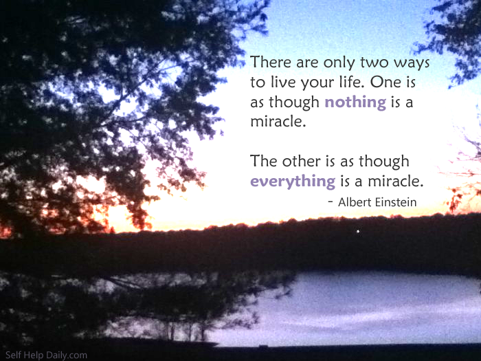 Quote About Miracles Self Help Daily