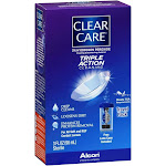 Clear Care Triple Action Cleaning & Disinfecting Solution, Travel Pack - 3 fl oz bottle