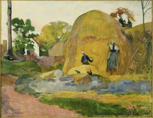 Les meules jaunes, Paul Gauguin, 1889