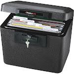 SentrySafe Fire Protection Document & File Safe, Black