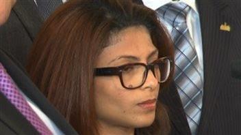 L'épouse de Raïf Badawi, Ensaf Haidar.