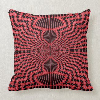 Red Madness Throw Pillow