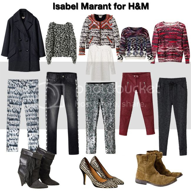 Isabel Marant for H&M lookbook and wish list