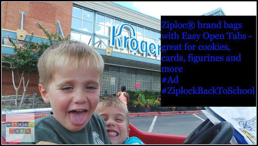 Ziploc® brand bags with Easy Open Tabs - great for cookies, cards, figurines and more #ZiplocBackToSchool #Ad