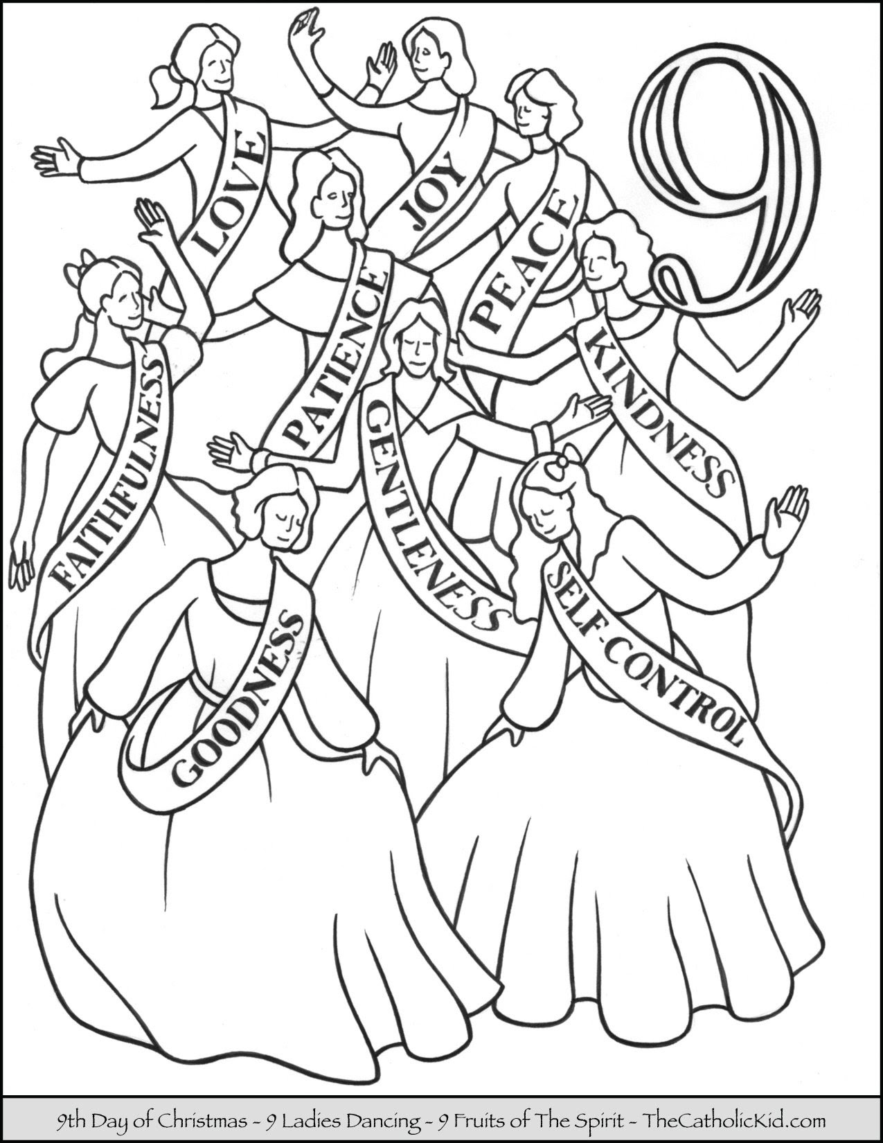 12 Days of Christmas Coloring Pages - TheCatholicKid.com
