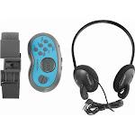Insignia Portable Digital Am/fm Radio Water Resistant (w/ Headphones) Blue Gray