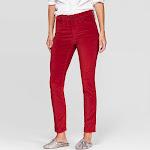 Women's Velvet High-Rise Ankle Cropped Skinny Jeans - Universal Thread Red