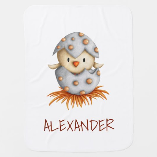 Baby bird hatching baby blanket