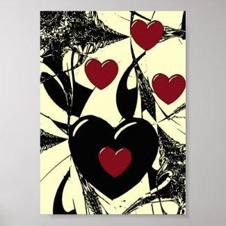 Hearts 4 print