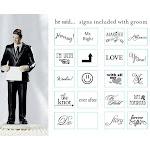 Wedding Star 9086 Read My Sign- Bride and Groom Figurines- Groom Figurine