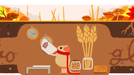 Autumn equinox 2017 Google doodle returns mouse featured the 1st day of spring & summer