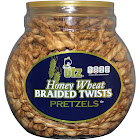 Utz Honey Wheat Braided Twists Pretzels - 56 oz jar