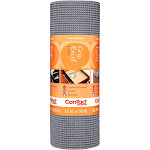 Con-Tact Brand Grip Premium Non-Adhesive Shelf Liner Excel Grip Alloy Gray (12''x10')